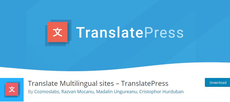 Plugin TranslatePress